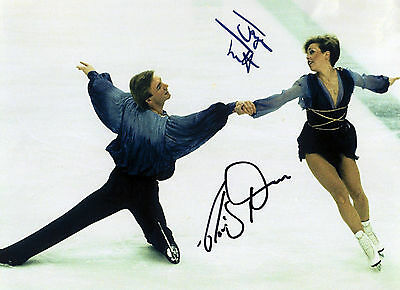 Torvill and Dean - 1984 Olympic Gold Medalists - Signed Autograph REPRINT