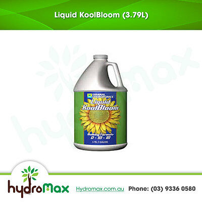 General Hydroponics Liquid Kool Bloom 3.79Litre Flower and Bud Enhancer Additive