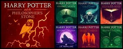 Harry Potter Complete Audio Book Collection 1-7 Steven Fry Instant Download!