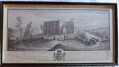 Two framed pictures - Castle-Rising Castle & Castle Acre Priory in Norfolk