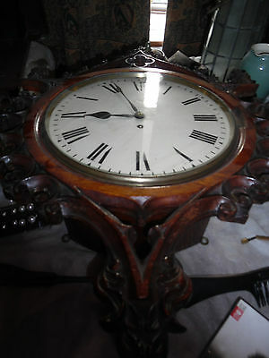 Antique Victorian Gothic Pugin Inspired Wall Clock - Single Fusee