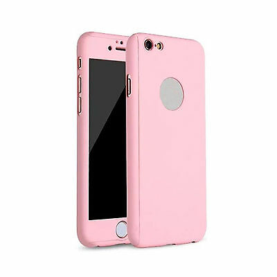 Hybrid 360° Ultra Thin Pink Case+Tempered Glass For iPhone 5/5s {[lw3