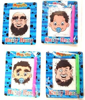 HAIRY HARRY 4x MINI MAGNETIC FUN FOR PARTY BAGS PARTY FAVOUR TOY KIDS PARTY BAG