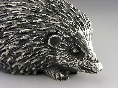 GOOD SIZED NICELY MODELLED STERLING SILVER HEDGEHOG FIGURE c1980 2.75inch