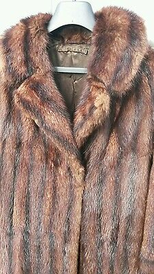 Vintage Real Fur Coat Small/medium Size. Tones Of Red/brown. Siimply Beautifiul!