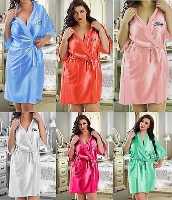 Personalised Kimono Wedding Robe / Robes / Dressing Gown - Bride Bridal Party