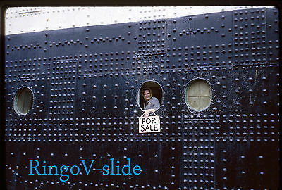 CUNARD  RMS RMS QUEEN ELIZABETH ORIGINAL 35mm SLIDE HULL CLOSE-UP SOUTHAMPTON