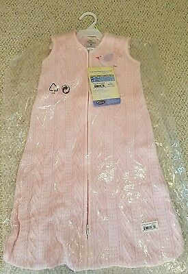*NEW* Halo Sleepsack Cable Knit Sweater Wearable Blanket, Pink Bird, Small *NWT*