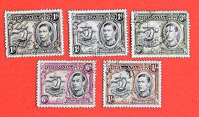 GRENADA 5 stamps from circa 1938 good used.