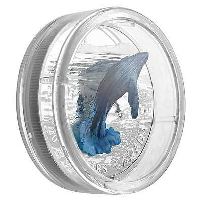 2017 Royal Canadian Mint 3D Breaching Whale 1oz Silver Proof Coin