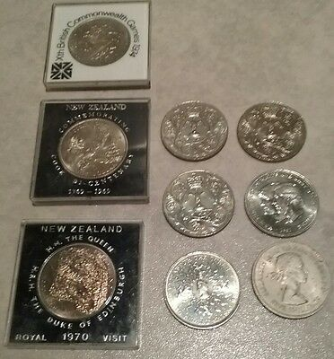 collection of 9 special edition coins see description