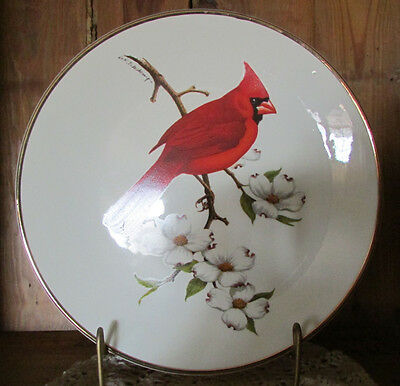 """Cardinal North American Songbird Plate By Avon 1974 Don Eckelberry 10"""""""