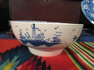 English Blue and White Porcelain Liverpool Bowl, c. 1780
