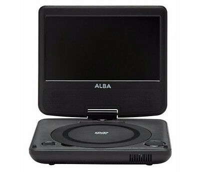 Alba 7 Inch Portable Personal DVD Player with Tilt and Swivel - Remote  - Black