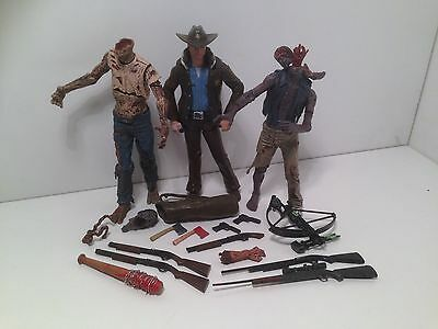 The Walking Dead Comic Action Figures set of three Rick Series one