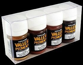 """Vallejo Pigment Set Nr. 1 (4) """"Rust and Oil"""""""