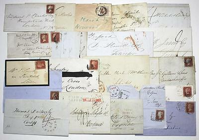 GB Postal History, Pre-stamp to QV. With and without stamps. Pmk's etc Unchecked