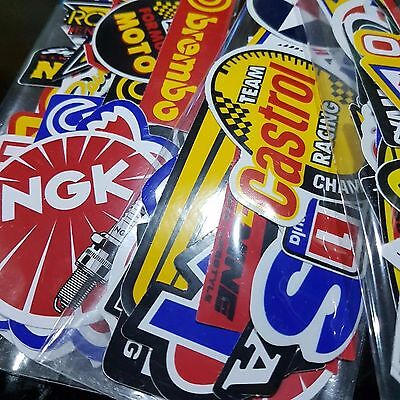 50Pcs Lot Racing Stickers Decals Motocross Motorcycles Car Vintage Decal Sticker
