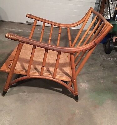 Vintage Mid Century style bamboo / rattan lounge chair