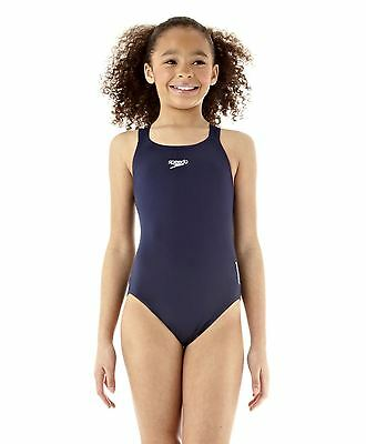 Speedo Endurance+ Medalist Girl's Swimsuit (Navy)