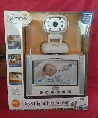 Summer/52580 Day & Night 7 Inch Color Flat Screen Baby Mon/Cam * Easy to use* $