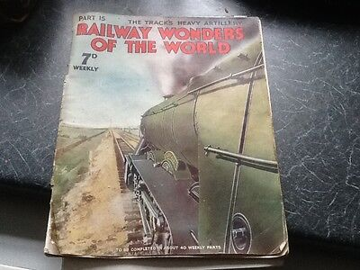 railway wonders of the world Magazine  part 15 1935 'The tracks heavy artillery