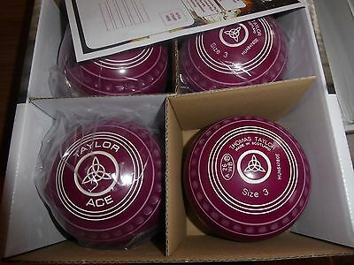 Thomas Taylor Ace Size 3 Heavy Plum Gripped Bowls