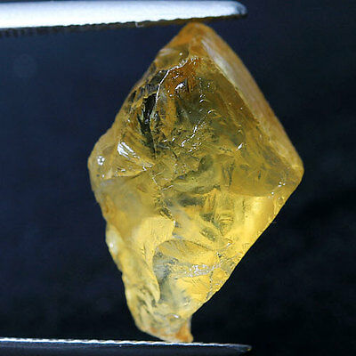 8.20 Ct.Yellow Citrine Rough Natural Gemstone Unheated From Brazil Free Ship !!