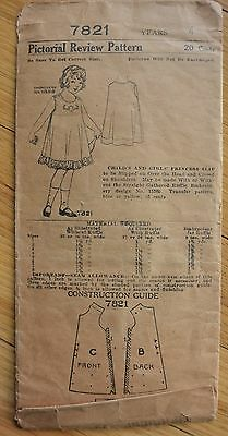 Antique pattern Pictorial Review 7821 childs and girls princess slip size 4 1907