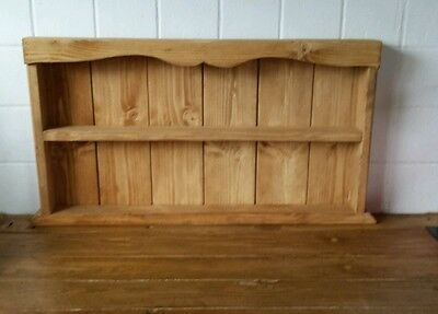 Wooden Rustic Cottage Spice Rack 2 Tier - Storage - Wall - Standing- Kitchen