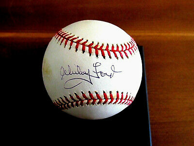 Whitey Ford 1961 Wsc & Ws Mvp Yankees Hof Pitcher Signed Auto Baseball Mm Auth