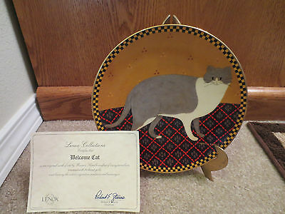 Lenox Warren Kimble Cat Collection WELCOME CAT Collector's Plate w/ COA 1995