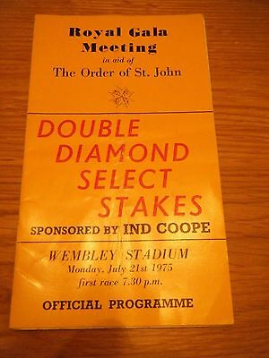 1975 Wembley ''select Stakes'' Greyhound Racecard