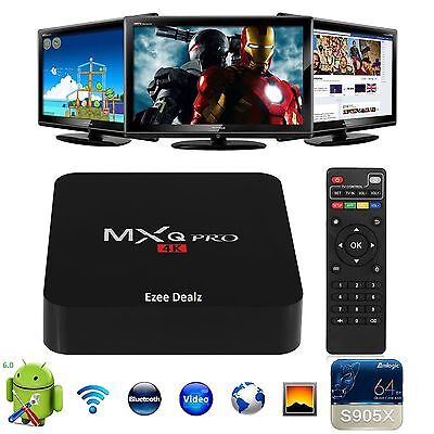 Genuine MXQ Pro Vers 17.1 Android 6 Smart TV Box 4K Quad Core S905X Fully setup