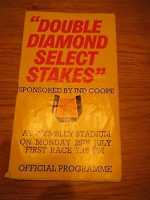 1977 Wembley ''select Stakes'' Greyhound Racecard