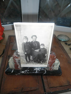 French Art Deco Marble Photo Frame With Sepia Photo