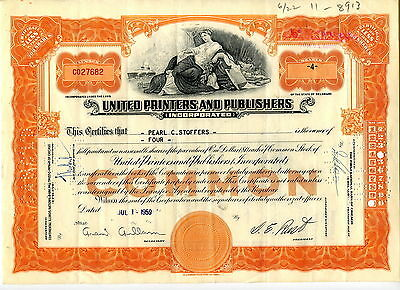 United Printers and Publishers - 4 Shares - Juli 1959