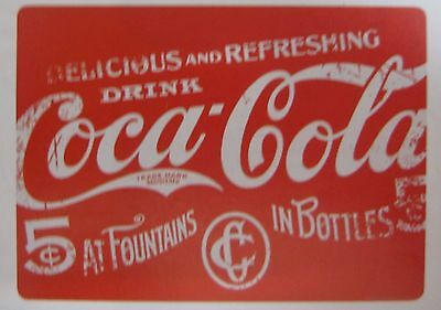 Set of 4 Coca-Cola Heavy Duty Cork Backed Placemats -NIP