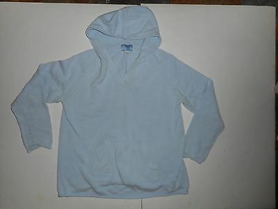 Baby and Me Maternity Blue Long Sleeved Hooded Sweater Size Large L