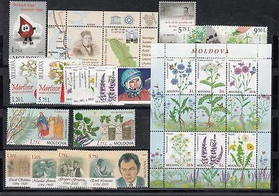 Moldova Moldawien 2016  MNH** Mi.943-987 complete Year set 2016 w Booklet 4Scan