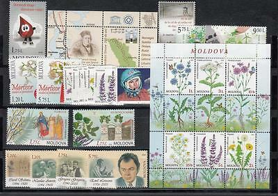Moldova Moldawien 2016  MNH** Mi.943-987 complete Year set 2016 no Booklet 3Scan
