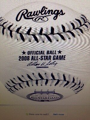 Rawlings 2008 Official All Star Game Baseball Old Yankee Stadium