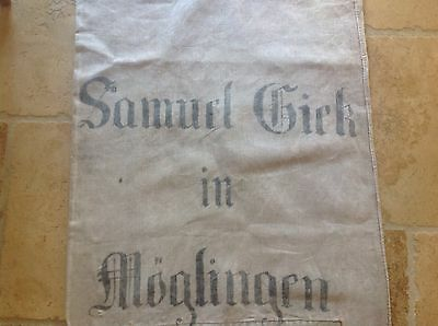 Early German hand woven linen grain sack TWO-SIDED