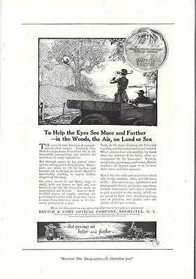 Vintage Bausch & Lomb Ad 1920 National Geographic Magazine Original Ad