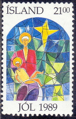 Iceland Stamp  Biblical Accounts - Christmas - Stained-glass 1989.