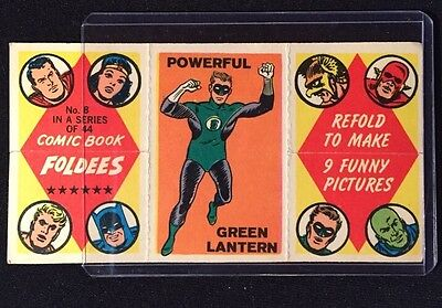 1966-COMIC BOOK FOLDEES GREEN LANTERN -POWERFUL No.8 FRANKENSTEIN SEE PHOTOS