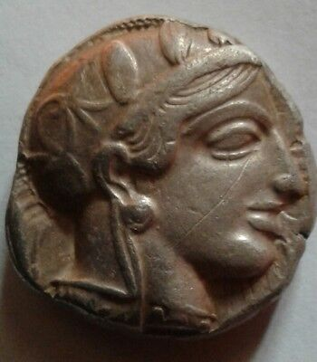 Ancient greek coin Attica tetradrachm Athens 454-404 BC old style Beautiful coin