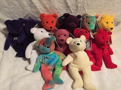 Bamm Beano's Beanie Bears Babies McGuire Griffey Rodriguez Bonds Sosa and More