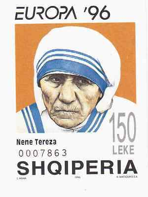 Stamp 1996 Albania Mother TERESA Finest MNH IMPERF STAMP