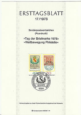 Stamp 1978 Germany Deutsche World Philately Movement Special Post Brochure Sheet